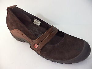 MERRELL-PLAZA-BANDEAU-ESPRESSO-BROWN-LEATHER-MARY-JANE-WEDGE-SHOE-EUR-40-US-9M