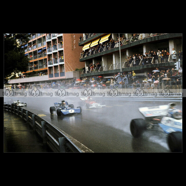 #pha.010625 Photo JACKIE STEWART TYRRELL-FORD GP F1 1972 FORMULE 1 Car Auto