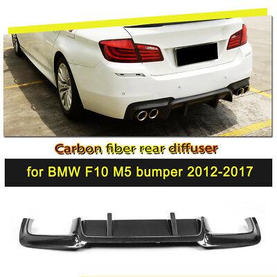 Rear Bumper Diffuser Lip Carbon Fiber fit for BMW M5 F10 Seden 4-Door 2012-2017