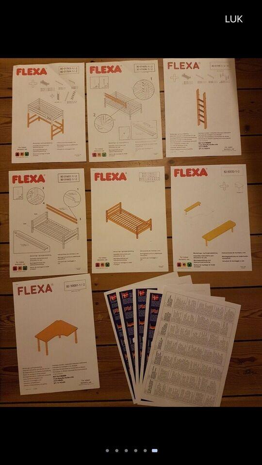 Højseng, Flexa classic højseng med lige stige, b: 110 cm l: