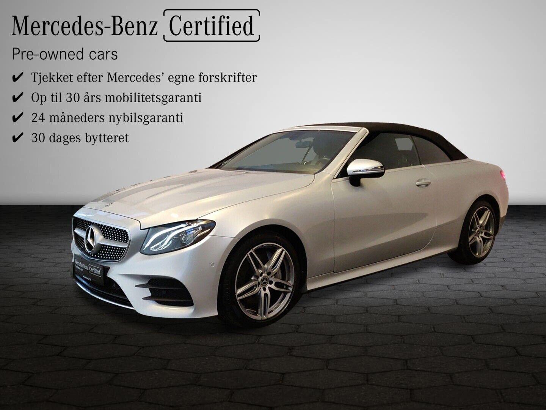Mercedes E350 2,0 AMG Line Cabriolet aut. 2d - 889.900 kr.