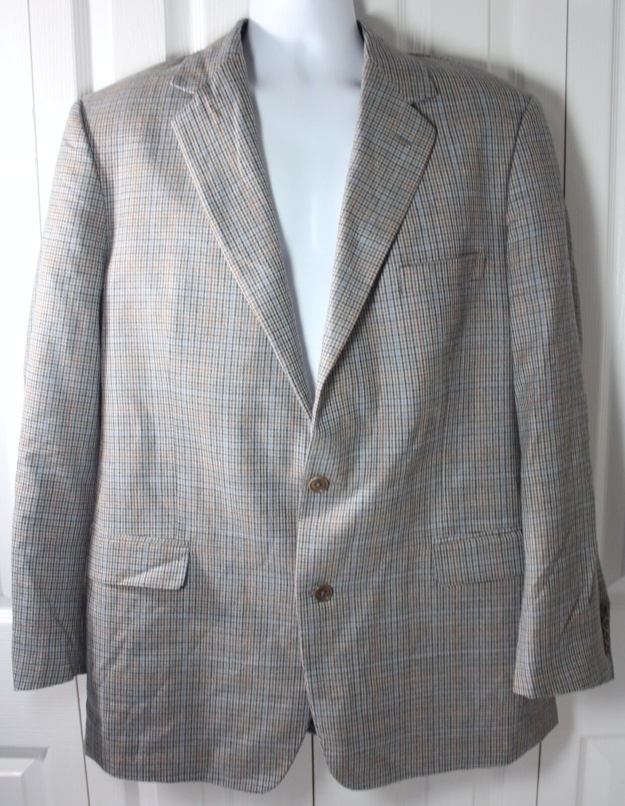 Brooks Brothers 44L Made in  2 Button 100% Wool Blazer Sport Coat