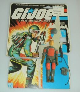 1982 GI Joe Flash v1 Straight Arm Soldier Figure w/ File Card Back 100% Complete