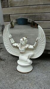 Isis egiziano personaggio tutenchamun SPECCHIO scultura Faraone Egitto 2857 fa1108