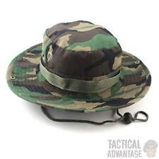DPM Boonie Bush Jungle Hat Wide Brim Army Military Sun Bucket Cap Camo Woodland