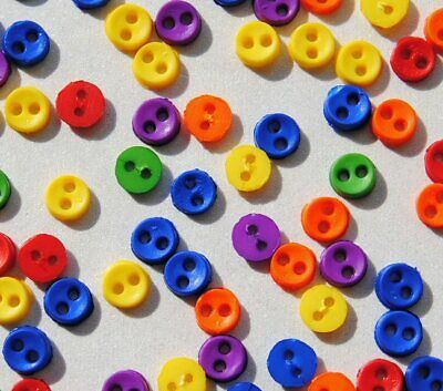 COLOR STORM MICRO MINI ROUND Bright Tiny Dress It Up Sew Quilting Craft Buttons