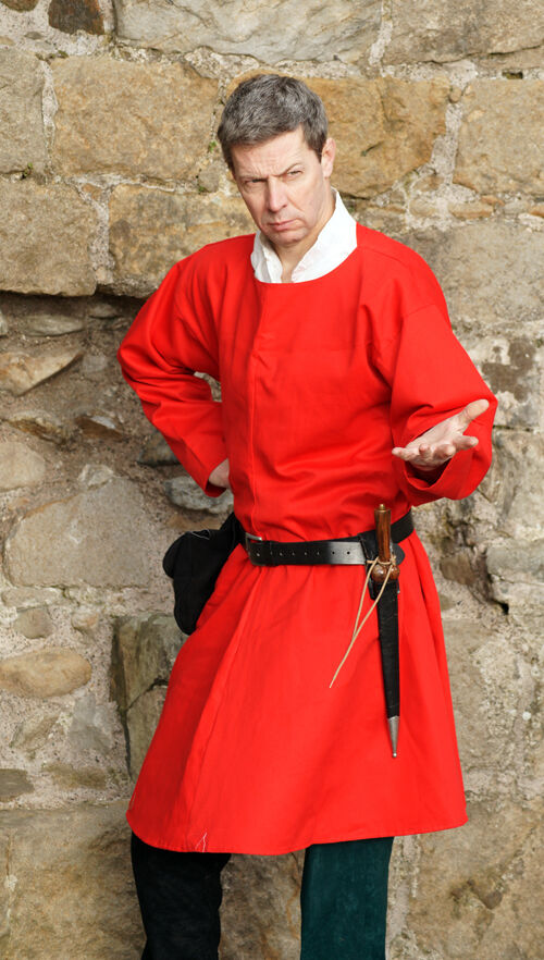 Medieval LARP SCA re enactment Role play Nobleman RED TUNIC all sizes Inc XXXXL
