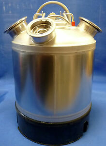REINIGUNGSBEHÄLTER mit FLACHFITTING 5 Liter Behälter für BIER ZAPFANLAGE TRESEN
