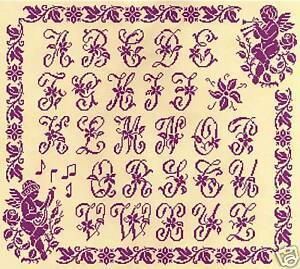 GRILLE POINT de CROIX - ABECEDAIRE aux ANGES MUSICIENS - réf : 1019 | eBay