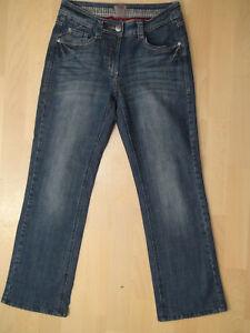Details zu CECIL Style Charlize Damen Stretch Jeans Hose Gr. W28 W 28 L 30 blau ton