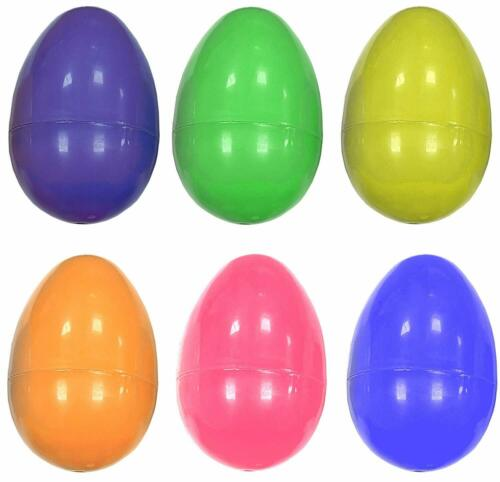 6,12,18,24 Large Plastic Filler Eggs Easter Hunt Empty Shell Childrens Game QR39