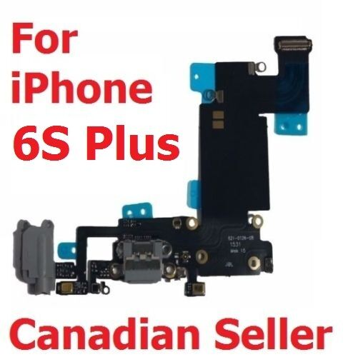 Black Headphone Dock Connector Charging USB Port Flex Cable iPhone 6S Plus Grey
