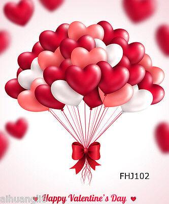 5X7FT Love Balloon Vinyl Photography Backdrop Background Studio Props FHJ102