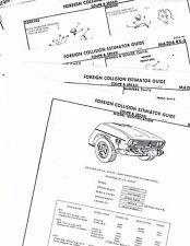 1971 1972 1973 MAZDA RX2 RX 2 RX-2 COUPE SEDAN BODY PARTS LIST CRASH SHEETS MFRE