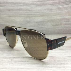 ac0be6b139 Alexander McQueen MQ 0002S Sunglasses Gold Havana 003 Authentic 58mm ...