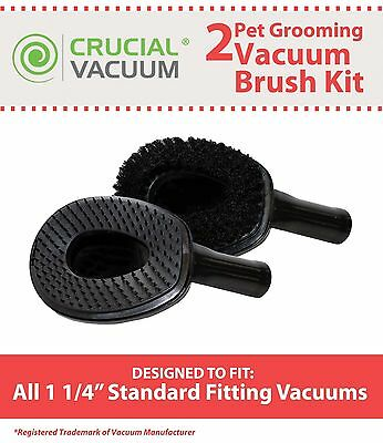 2 Vacuum Cleaner Pet Grooming Groomer Attachments Fit 1 1/4 Fitting Vacuums