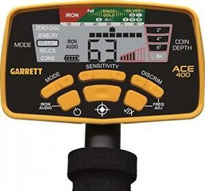 Headphones /& Free Shipping Garrett ACE 400 Metal Detector Water-Proof Coil