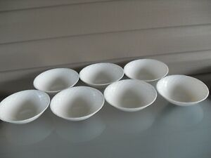 7-Arcopal-Romane-Ivory-France-Coupe-Cereal-Bowls