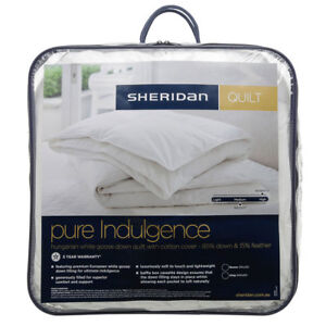 Sheridan-Pure-Indulgence-Hungarian-Goose-Down-Quilt-Doona-Duvet-Queen-King-NEW
