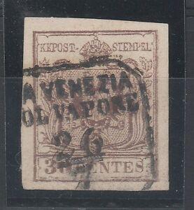 FRANCOBOLLI-1853-LOMBARDO-VENETO-30C-II-TIPO-DA-VENEZIA-COL-VAPORE-26-7-C-8740