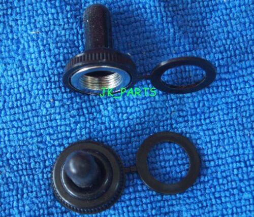 10pcs 12 mm Caoutchouc Noir Toggle Grand Commutateur Chapeaux Botte Imperméable Housse Capuchon