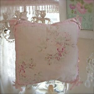 Rachel-Ashwell-Shabby-Pink-Roses-Bow-Chic-Cushion-for-Couch-Bed-or-Wicker-Chair