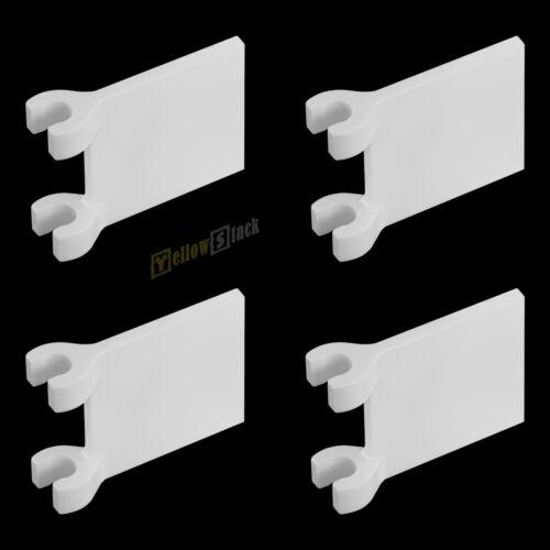 4x LEGO ® 2335 2x2 drapeau pavillon Blanc Nouveau