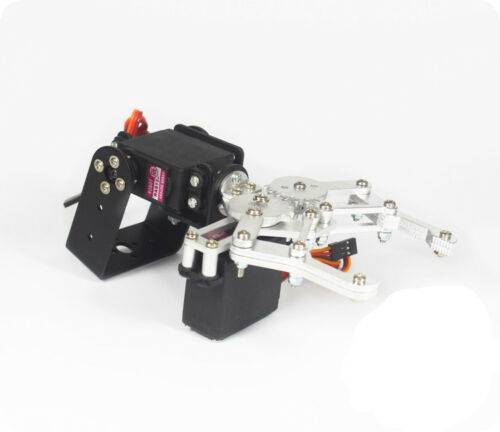 MG995 Servo 2 DOF Black Aluminium Robot Arm Clamp Claw Mount  DIY Kit