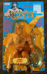 Nouveau Vintage Conan Le Roi Remco 1982 Figure En Original Scellé Unpunched   New Vintage Conan The King Remco 1982 Figure In Original Sealed Unpunched