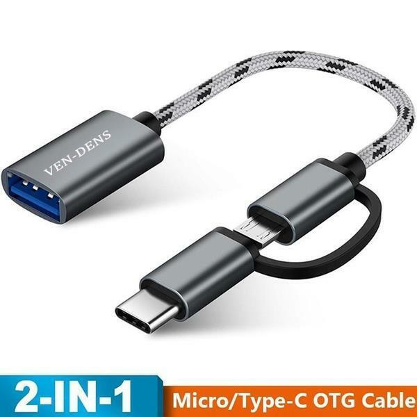 New USB 3.1 OTG Adapter Cable 2 In 1 Type-C Micro USB Options Male To USB Female
