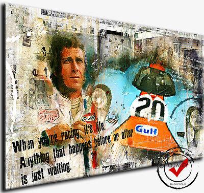 Steve Mcqueen Und Frau Nelie Kunst Leinwand Film Poster Druck Film Icon Legend