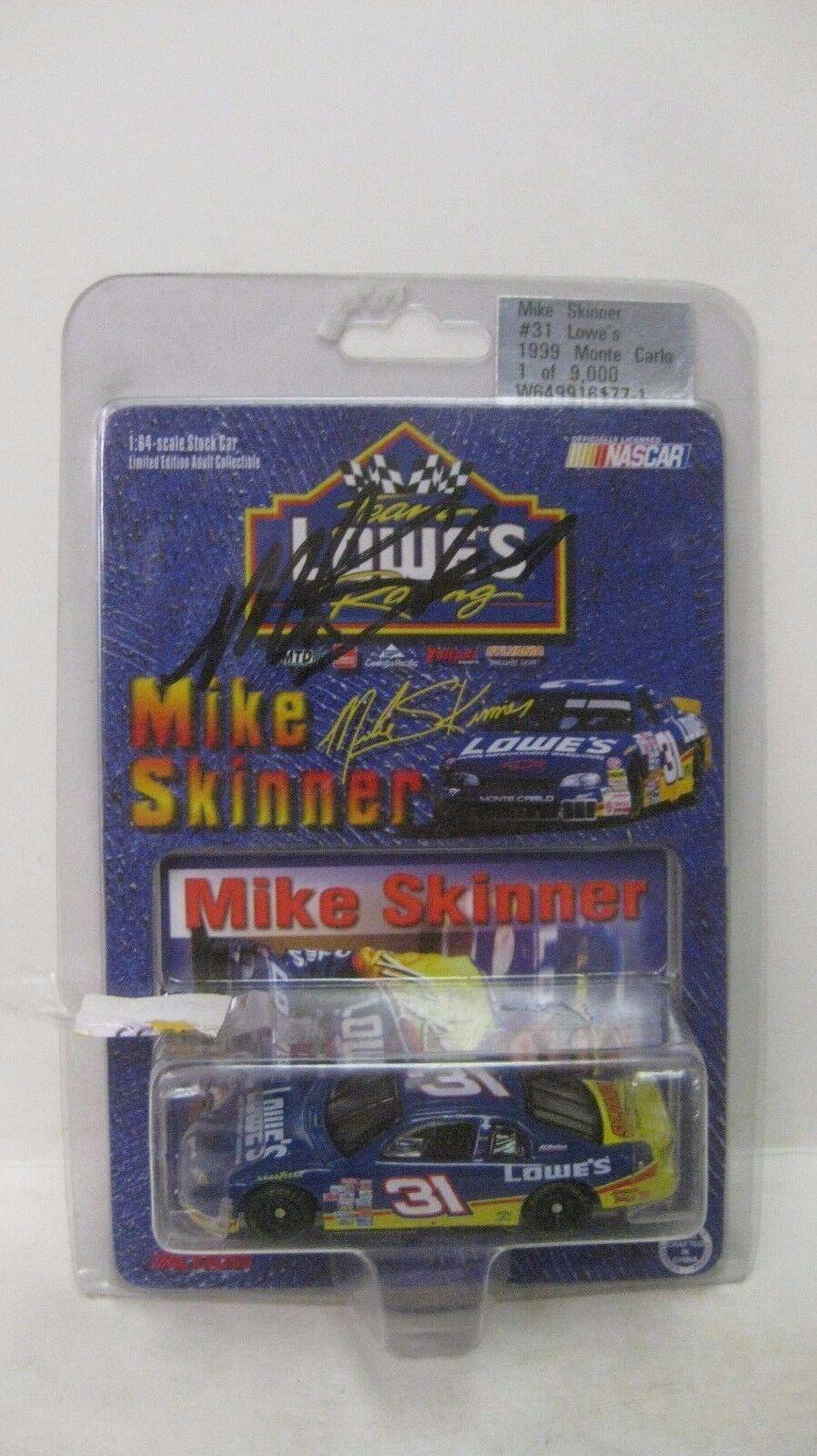 Raro Nascar Mike Skinner Firmado Le Chevy 1 64 de Metal 1999 Nuevo dc1452