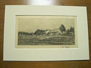 Josef-Koepf-1873-1953-Bauernhaus-Original-Radierung-signiert