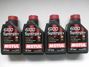 MOTUL-6100-SYNERGIE-10W-40-ACEA-A3-B4-TECHNOSYNTHESE-QUANTITE-039-4-LITRE