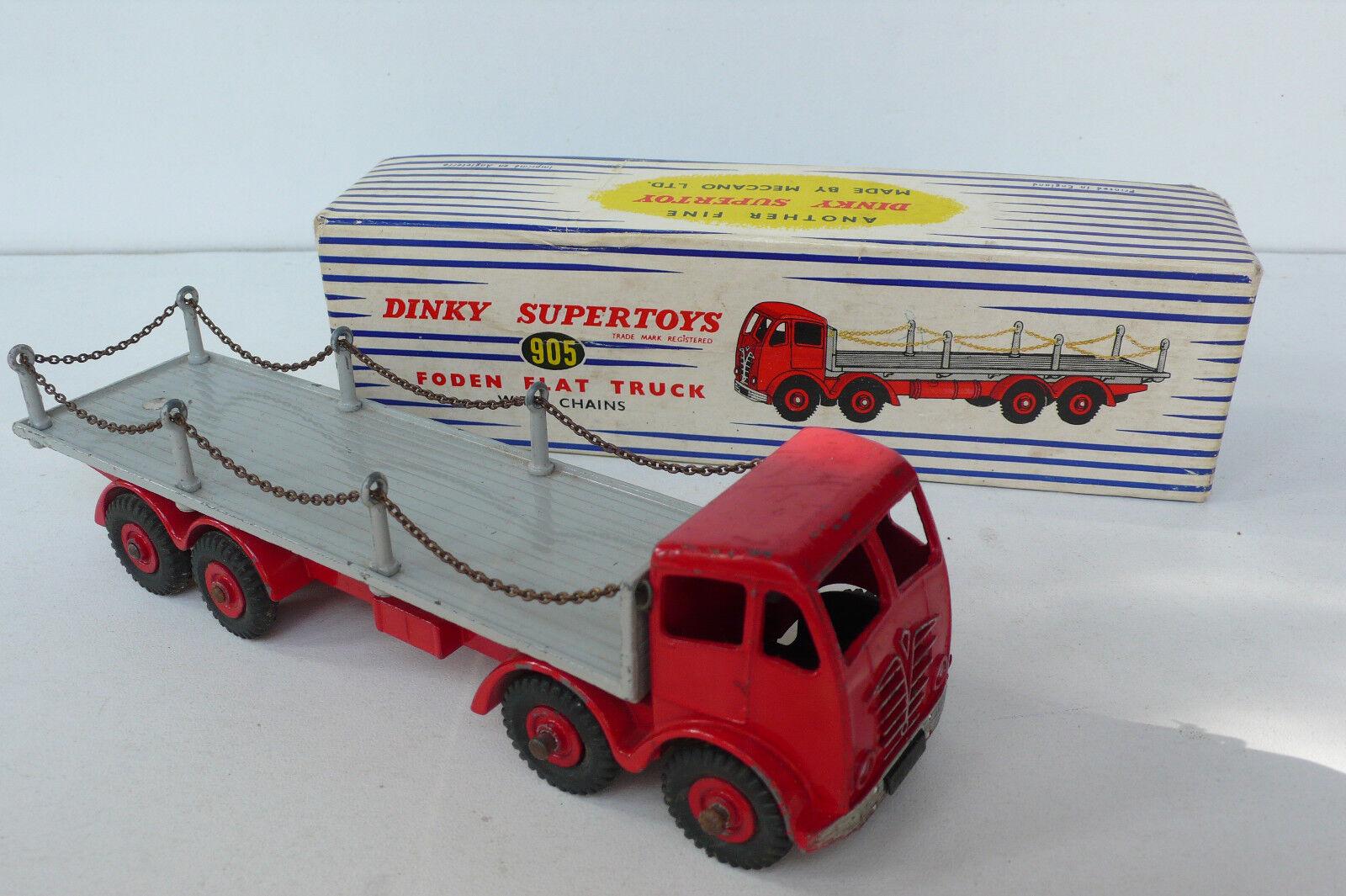 DINKY TOYS GB  FODEN FODEN FODEN FLAT TRUCK  REF 905  54/64   BOITE D'ORIGINE BEL ÉTAT | Outlet  e214a1