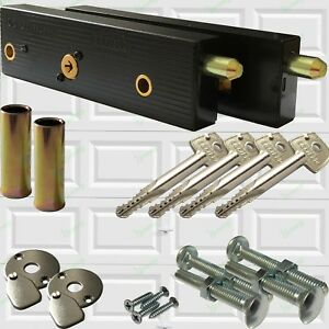 Enfield-Genuine-Garage-Door-Bolts-Lock-Up-And-Over-One-Pair-2020-LQQK-Now-4-Keys