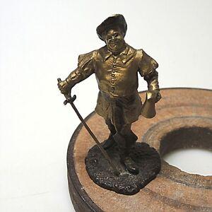 Alte-Wickueler-Musketier-Figur-Werbefigur-Zinn-bemalt-ca-8-x-5-cm