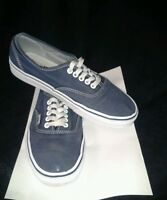 Men Canvas Vans Off the Wall Daps Trainer Skate Shoes Size UK 7 Blue & White
