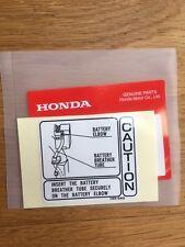 Genuine Honda Z50J Battery Caution Decal Z50 ST70 Monkey Bike Dax Z50m