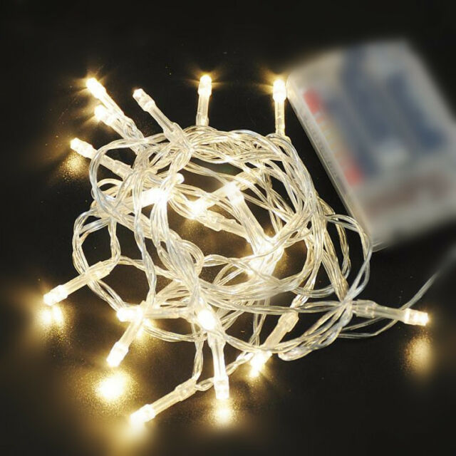 NEW WARM WHITE 10-80 LED FAIRY STRING LIGHTS PARTY HOLIDAY WEDDING BEDROOM 1-10M