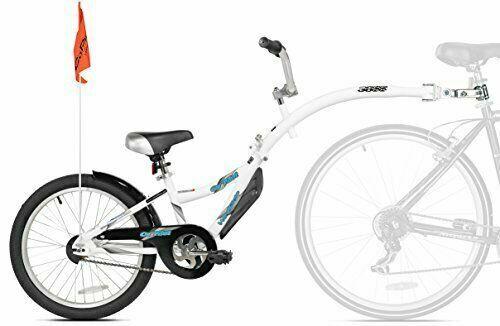 Robuste Seat Post Mount Remorque à Vélo Avec Guidon /& Pédale Pour Enfants Âges 4 To 9