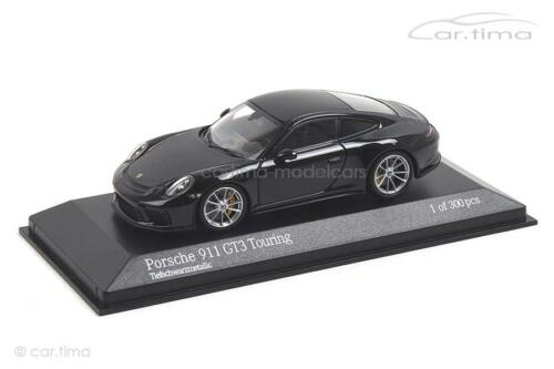 - Minichamps 1:43-410067424 Porsche 911 gt3 Touring-tiefschwarzmet 991 II