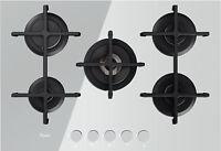 White Ceramic Glass 5 Burner Gas Hob Whirlpool Akt 7510 Wh Boxed
