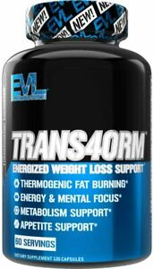 Evlution Nutrition Trans4orm Thermogenic Energizing Fat Burner Supplement, Incre