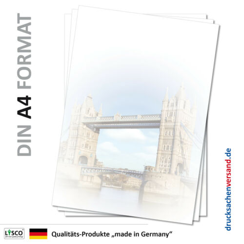 Motivpapier Briefpapier Tower Bridge über Themse London-5064 DIN A4 25 Blatt