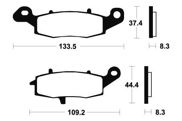 Kawasaki Z 750,s - Kit Plaquettes De Frein Avant Gauche- Mf204 - 382041 Dingen Gemakkelijk Maken Voor Klanten