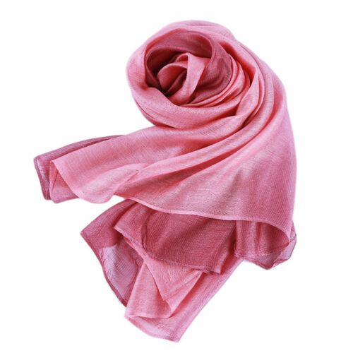 Women/'s Summer Gradient Color Long Wraps Shawl Beach Large Scarf 6A