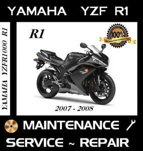 2007 2008 yamaha yzf-r1 r1 service repair manual maintenance.