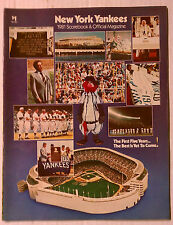 NEW YORK YANKEES 1981 OFFICIAL MAGAZINE SCOREBOOK SOUVENIR PROGRAM BOOK