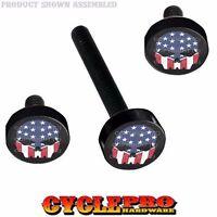 Black Billet Fairing Windshield Hardware Kit 14-up Harley Touring - Usa Skull